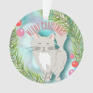Meowy Christmas - Kitty Cat Festive Ornament