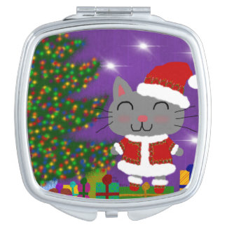Meowy Christmas Makeup Mirrors