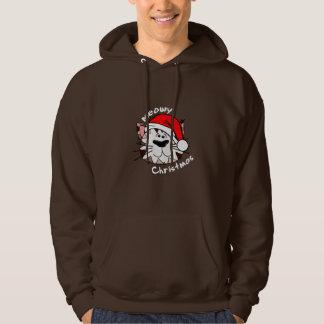Meowy Christmas Men's Basic Hooded Sweatshirt