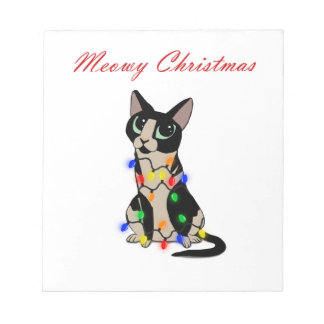 Meowy Christmas Notepad