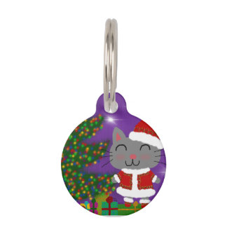 Meowy Christmas Pet Tag