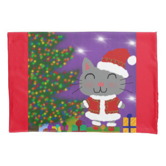 Meowy Christmas Pillowcase
