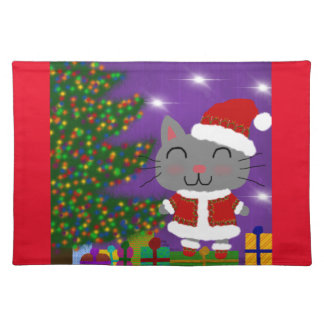 Meowy Christmas Placemat