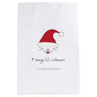 Meowy Christmas Purfect Holiday Cat Lover Gift Bag