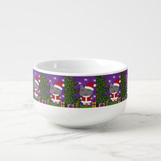 Meowy Christmas Soup Bowl With Handle