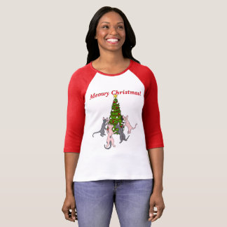 Meowy Christmas! Sphynx and Bambino Cats T-Shirt