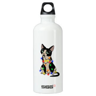 Meowy Christmas Water Bottle