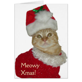"""Meowy Xmas"" greeting card"