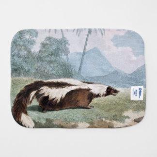 Mephitic Weasel Animal Vintage Art Baby Burp Cloth