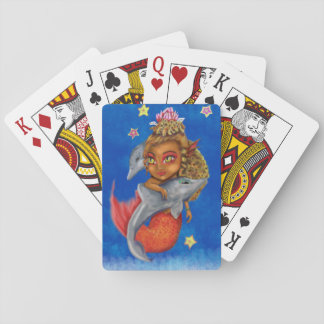 Mer Dancing with Dolphins Playing Cards