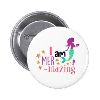 Mer-Mazing 2 Inch Round Button