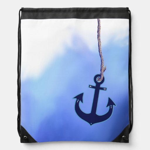 mer nautique maritime de bleu d'ancre sacs à dos