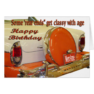 Merc bday card-add your words greeting card