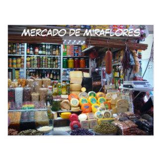 Mercado de Miraflores Postcard