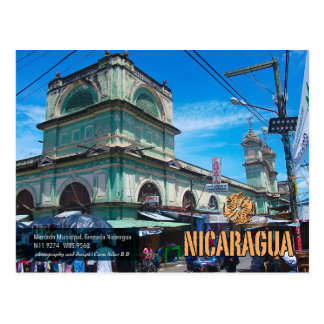 mercado municipal, Granada, Nicaragua Postcard