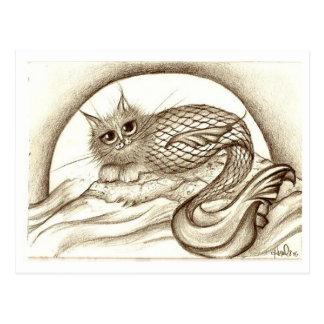 Mercat by the Moon Postcard
