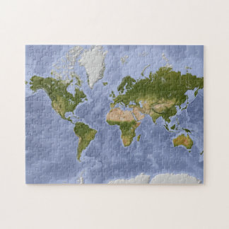 Mercator World Map Puzzle