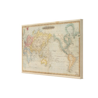 Mercator's Chart Canvas Print