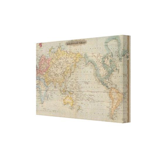 Mercator's Chart Canvas Print