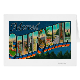 Merced, California - Large Letter Scenes Card