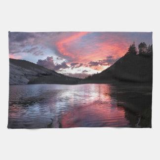 Merced lake Sunset - Yosemite - California Hand Towels