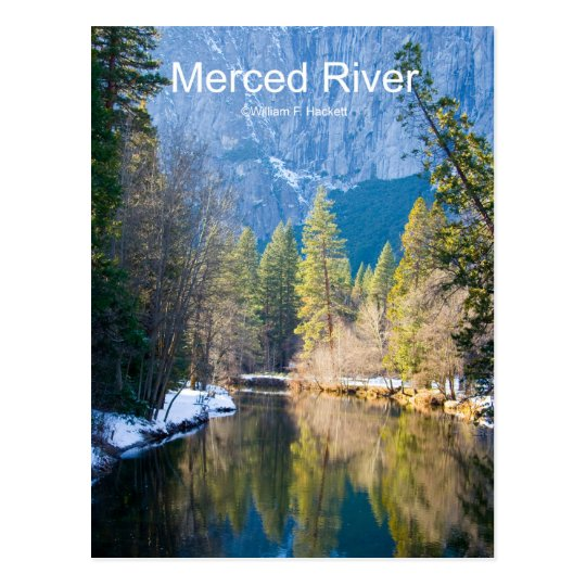 Merced River January Yosemite California Products Postcard