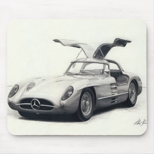 Mercedes 300SLR coupe Mouse Pad