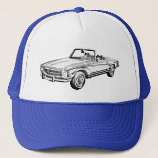 Mercedes Benz 280 SL Convertible Illustration Trucker Hat