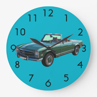Mercedes Benz 280 SL Convertible Luxury Car Large Clock