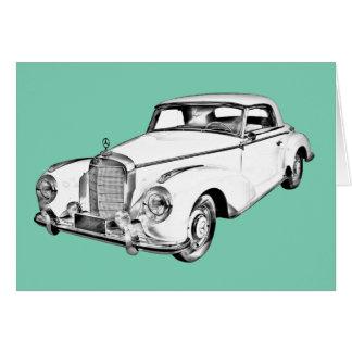 Mercedes Benz 300 Luxury Car Digital Drawing Card