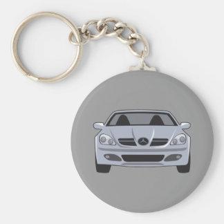 Mercedes Benz Basic Round Button Keychain