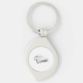 Mercedes classic convertible keychain