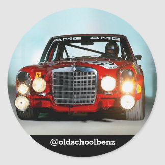 Mercedes Reg Pig sticker