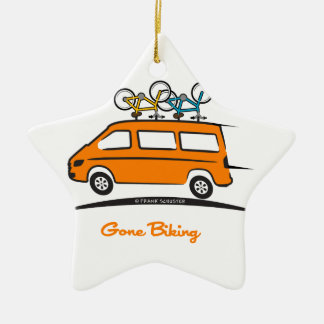 Mercedes Sprinter Gone Biking Ceramic Ornament