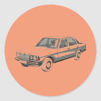 Mercedes W123 Sticker