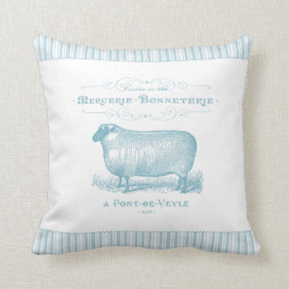 Mercerie Bonneterie Sheep Throw Pillow