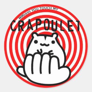 Merch Crapoulet Records Classic Round Sticker