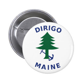 Merchant and Marine Flag of Maine 2 Inch Round Button