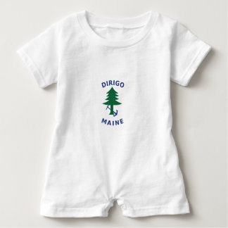 Merchant and Marine Flag of Maine Baby Romper