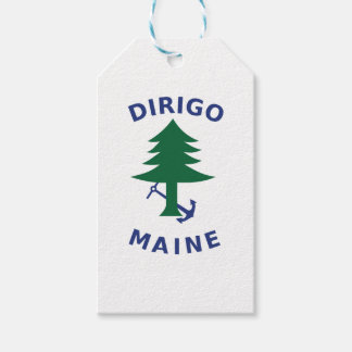 Merchant and Marine Flag of Maine Gift Tags