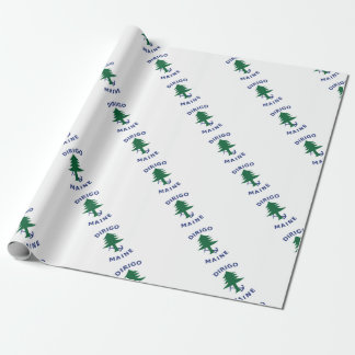 Merchant and Marine Flag of Maine Wrapping Paper