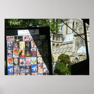 Merchant Stall Near Notre Dame Poster