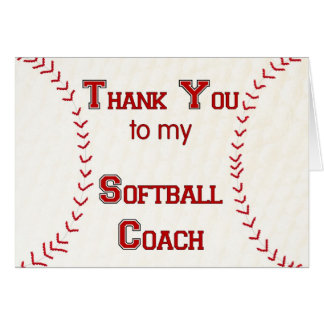 Merci à mon entraîneur du base-ball carte de vœux