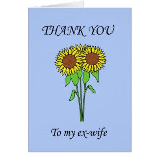 Merci à mon ex-épouse carte de vœux