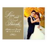 Merci antique de mariage d'amour et de mercis   cartes postales