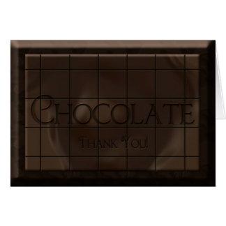Merci - barre de bonbons au chocolat - masquez à l carte de vœux