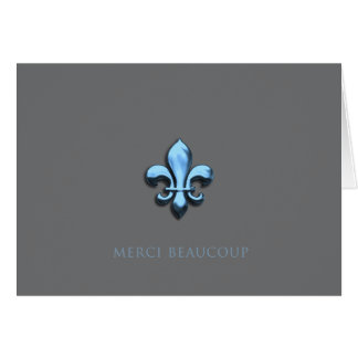 Merci Beaucoup in Blue (Thank You Very Much) Card