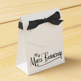 """Merci Beaucoup"" Paris Doodle Sketch Baby Shower Favor Box"