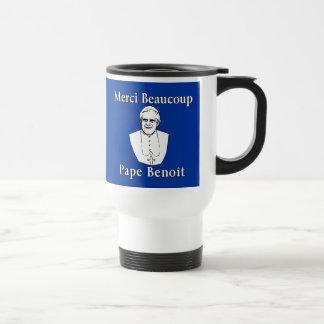 Merci Beaucoup Pope Benedict Travel Mug