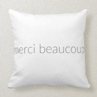 Merci Beaucoup Throw Pillow